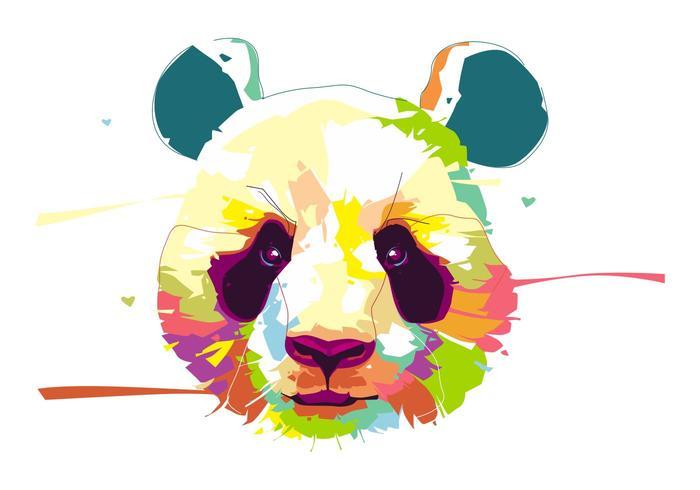 熊貓-動物生活-波普藝術肖像插圖下載