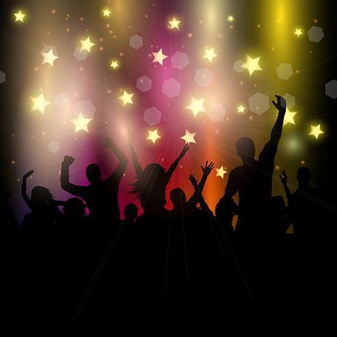 星空のパーティの観客パターンfree download