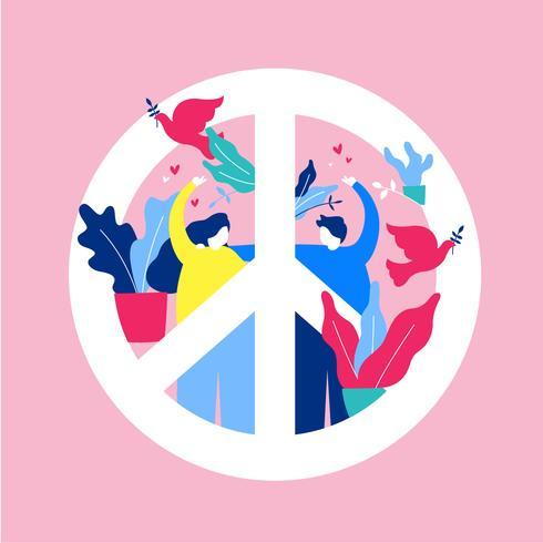 【和平与爱向量图档】排版用的和平与爱向量图档下载,创作感的背景素材素材免费下载