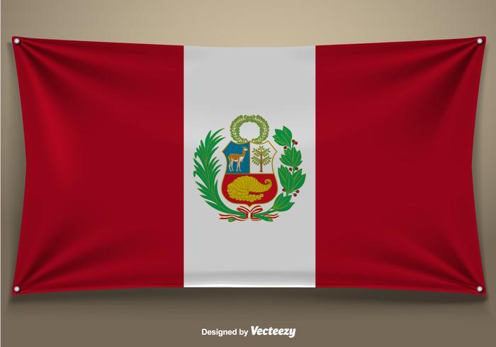 祕魯國旗向量圖檔下載