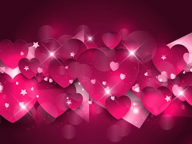 【粉红色的心背景图案】可爱的粉红色的心背景图案下载,细致的素材图免费下载