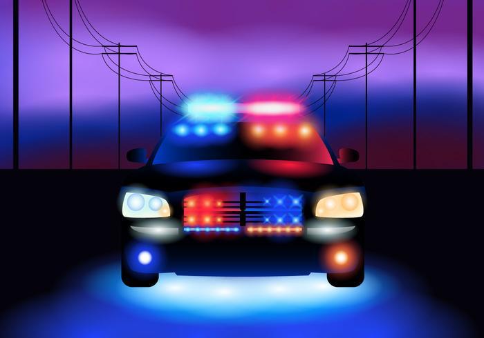 夜間警車圖片下載