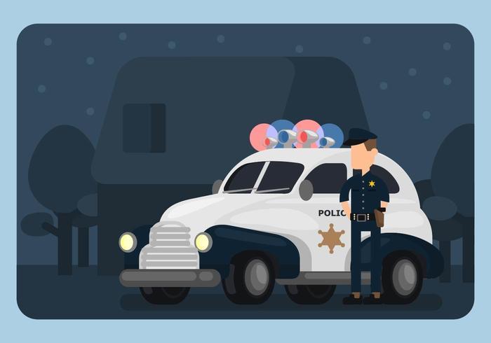 警車和警察圖示素材下載,可愛圖案下載