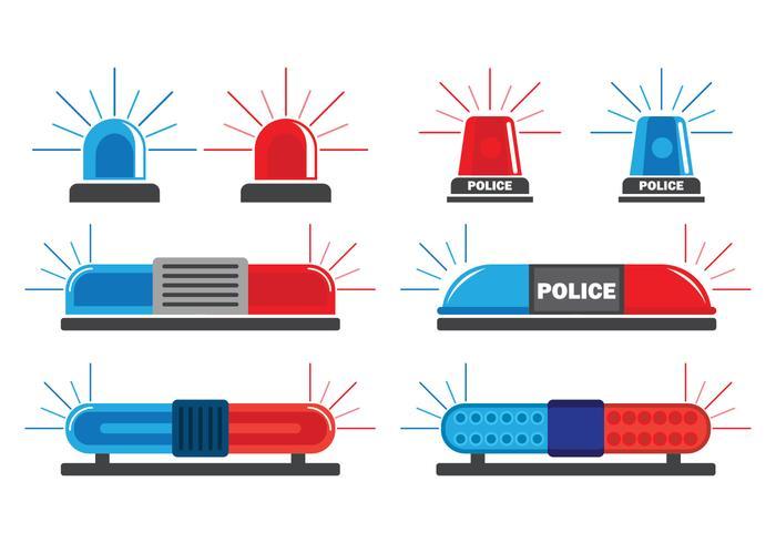 警車警示燈圖形素材下載