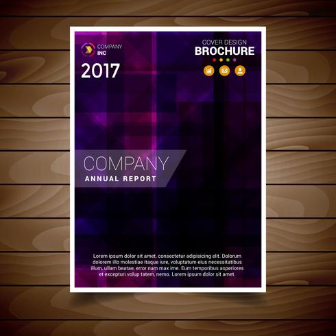 紫色のモダンなパンフレットデザインテンプレートパターンダウンロード