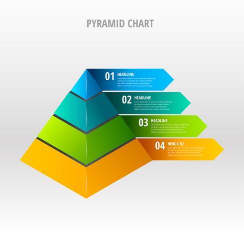 ピラミッドグラフベクター画像無料