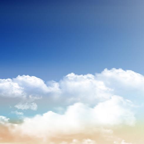 藍天上真實雲朵圖片素材下載