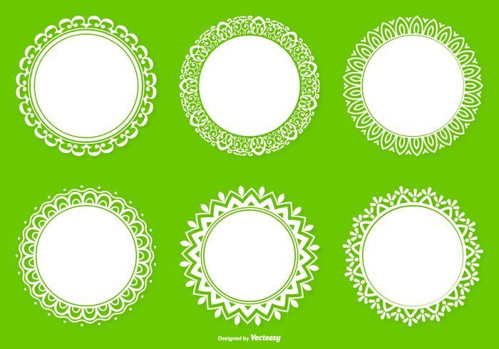 圓形花邊系列卡通素材下載