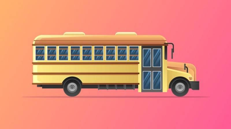 【校车图片】美工用的校车图片下载,高品质的图卡素材免费下载