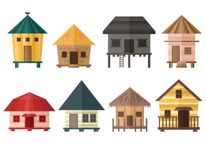 小屋向量圖檔素材免費下載
