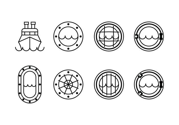 【船窗icon插画】背景可用的船窗icon插画下载,精品的图像素材包下载