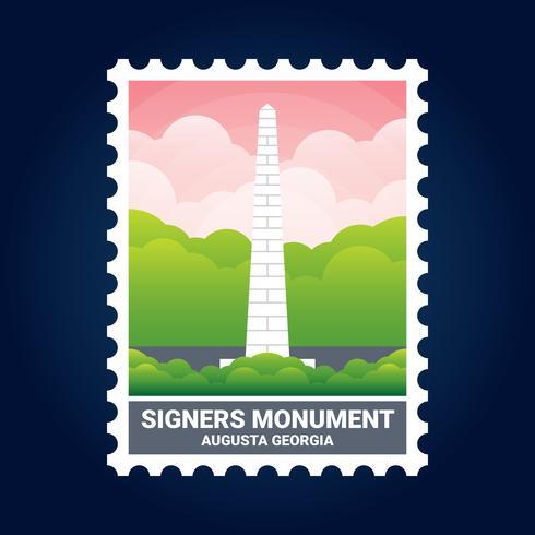 署名者記念碑オーガスタジョージア州米国切手パターン素材無料ダウンロード