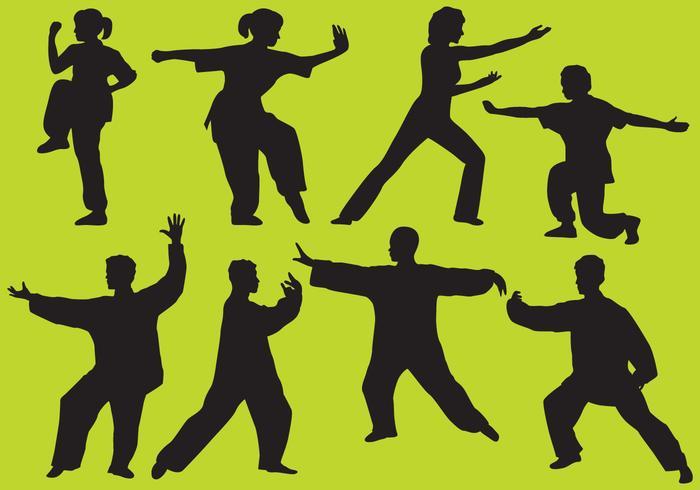 太極拳シルエットイラスト 無料無料著作権フリー写真 フリー無料