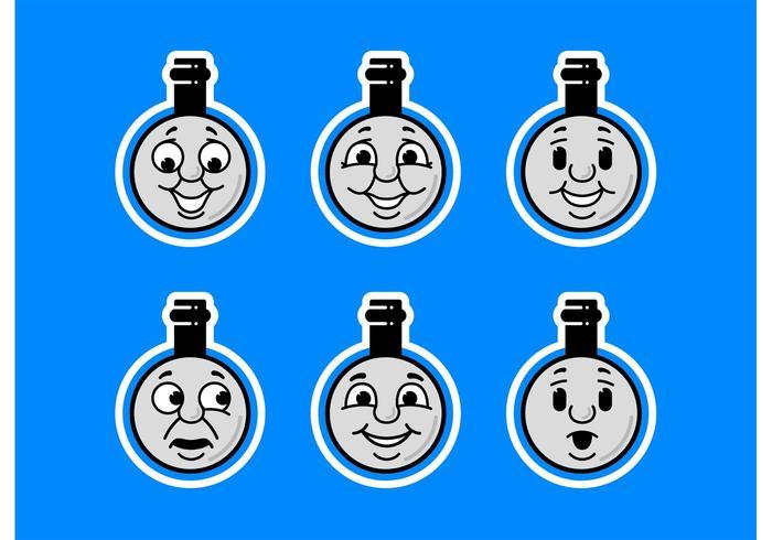 トーマスの列車の顔イラスト 写真無料illustrator用柄 素材素材