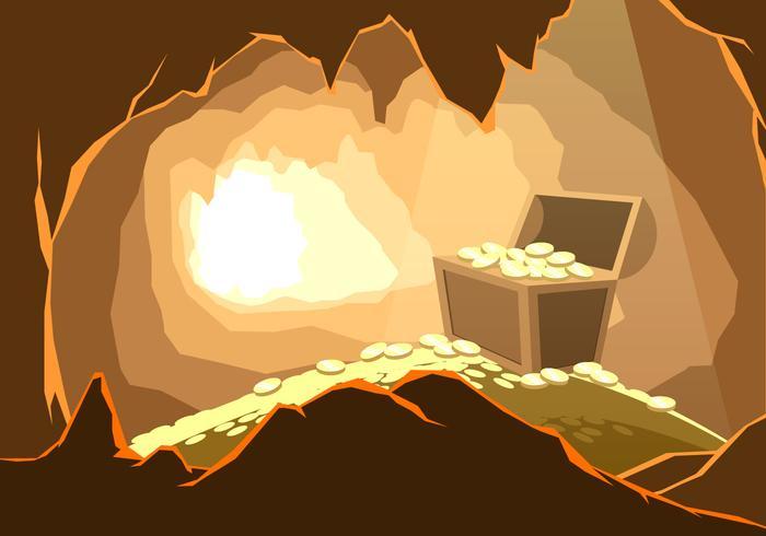 洞窟の宝イラスト 写真無料ダウンロードオシャレ写真材料ダウンロード