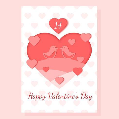 【情人节卡片向量插图】后制用的情人节卡片向量插图下载,精美的线条图素材免费下载
