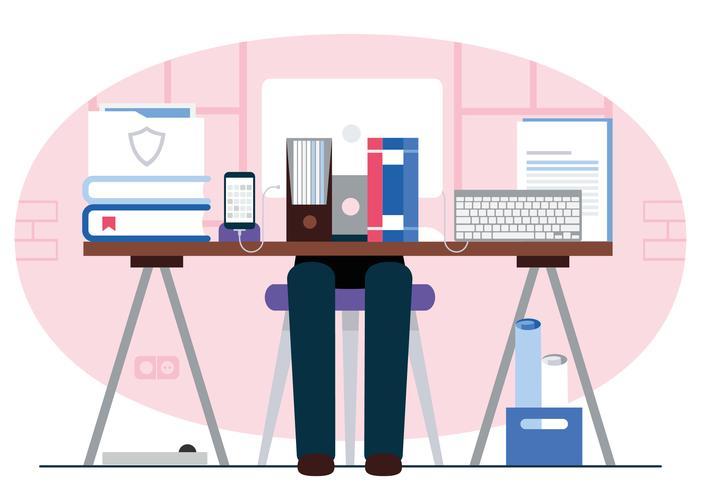 デザイナーのデスクトップ可愛い イラスト無料ダウンロード