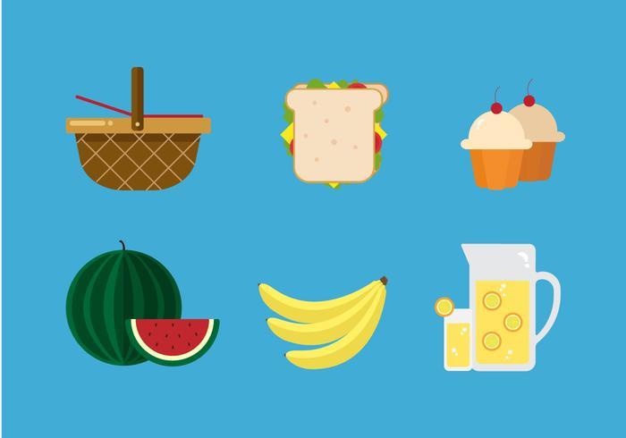 ファミリーピクニック像 イラスト素材ダウンロード