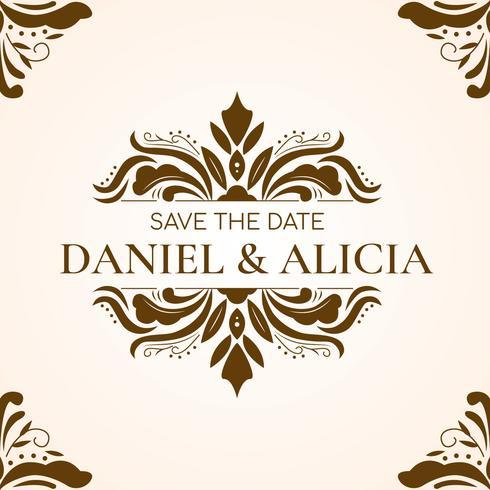 結婚式カード繁栄の飾りパターンダウンロード