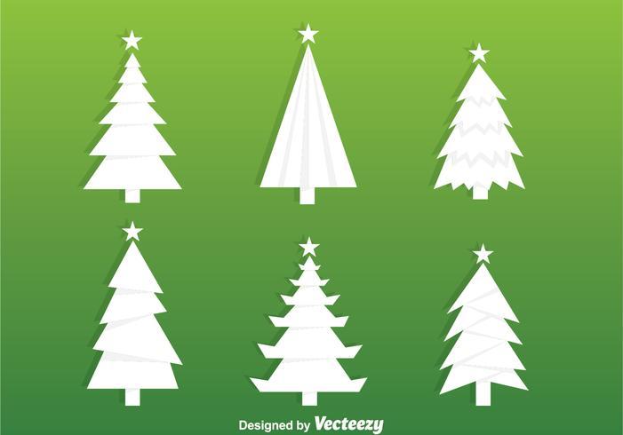 ホワイトクリスマスツリーシルエットパターンダウンロード