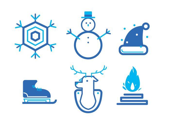 冬のアイコンセット無料ダウンロード