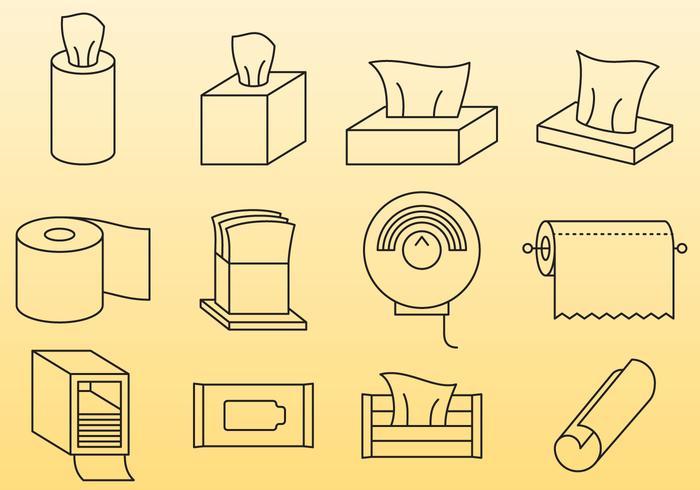 抹布和紙巾圖案素材下載