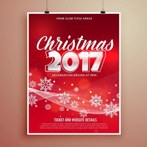スタイリッシュな赤クリスマスパーティーイベント招待状カードテンプレートパターン素材集ダウンロード