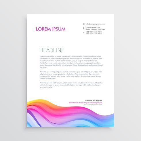カラフルなウェーブエフェクトレターヘッドデザインパターン素材集ダウンロード