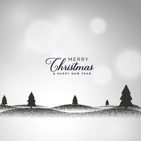 ドットで作られた風景シーンと創造的なクリスマスパターンfree download