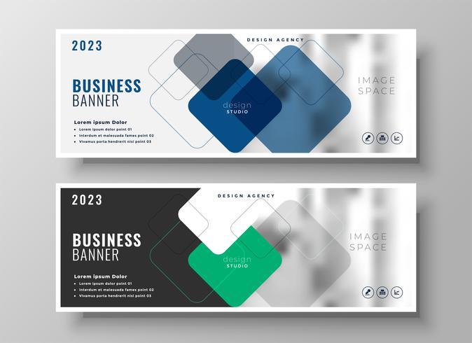 創意企業商業橫幅設計圖案下載