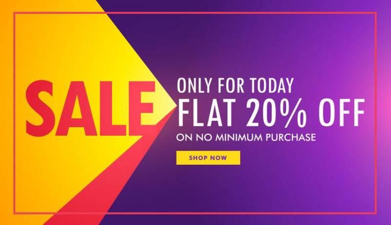 オファーとと紫と黄色の創造的な販売バナーパターン素材無料ダウンロード