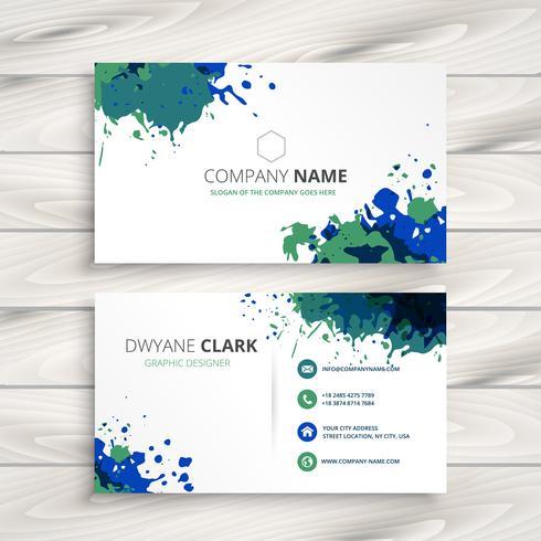 創造的な飛び散る名刺。ビジネスデザインイラストからパターン素材ダウンロード