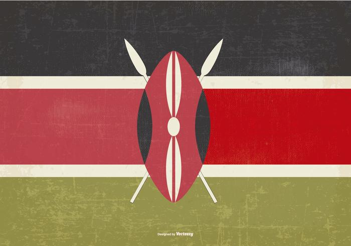 ケニアのヴィンテージ旗パターン素材無料ダウンロード