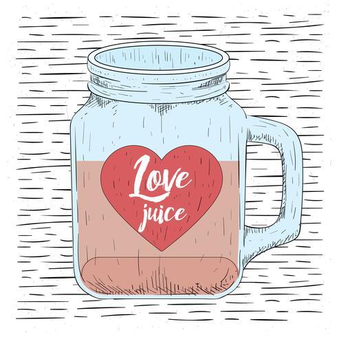 手繪愛情瓶圖片素材下載