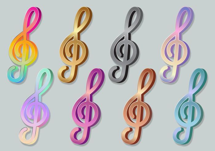 小提琴鍵高音譜號3d圖片下載