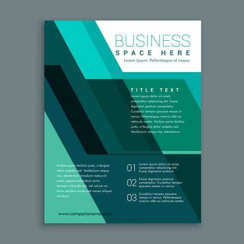 ターコイズカラーの幾何学的ビジネスパンフレットデザインパターン素材集ダウンロード