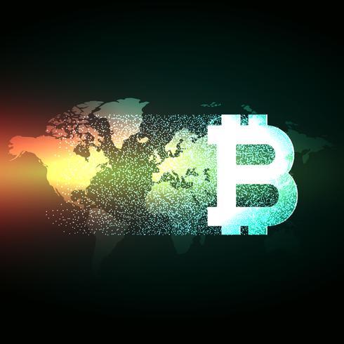 グローバルデジタル通貨ビットコインコンセプトデザインパターン無料