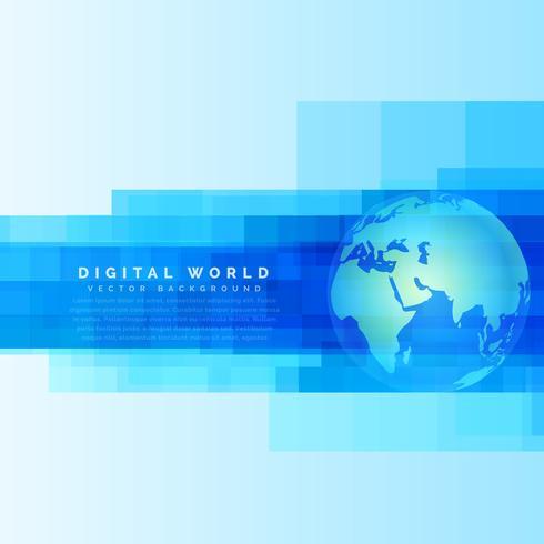 地球地圖抽象數字藍壁紙素材免費下載