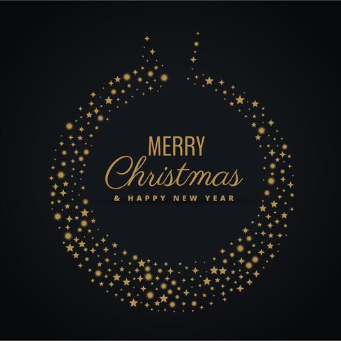 金色聖誕球設計與星星裝飾圖片素材免費下載