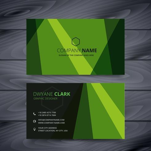 緑の名刺デザインテンプレートパターン素材無料ダウンロード