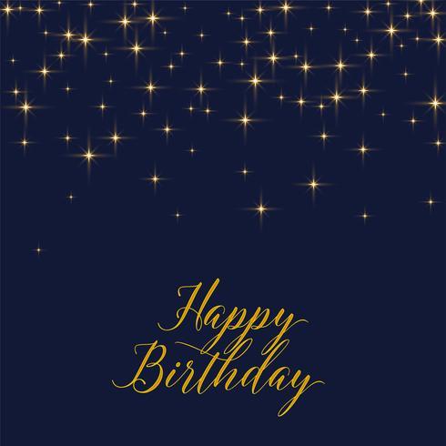 金燦燦的星星,祝你生日快樂圖片下載