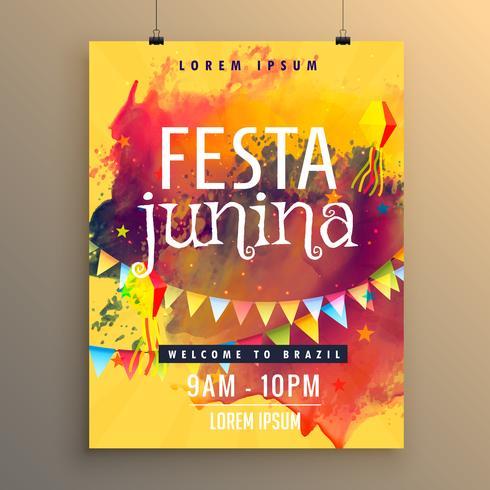 フェスタジュニーナフェスティバルデザインの招待状テンプレートパターン無料