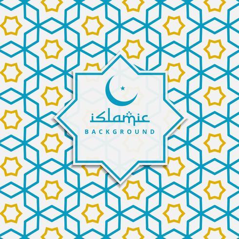藍色和黃色的伊斯蘭圖案圖片素材包下載