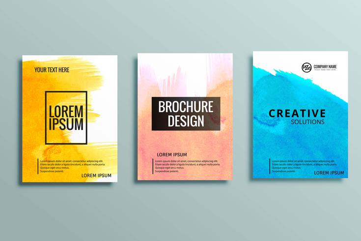 現代のビジネスパンフレットパターン無料ダウンロード