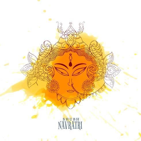 ナヴラトリのお祝いとマードゥルガーフェイスパターンfree download