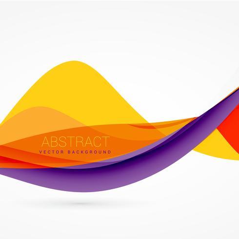 紫と黄色のカラーウェーブデザインパターンダウンロード