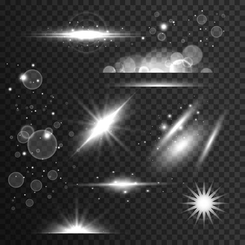 閃光的,光的效果和透鏡耀斑在透明的針圖片素材包下載