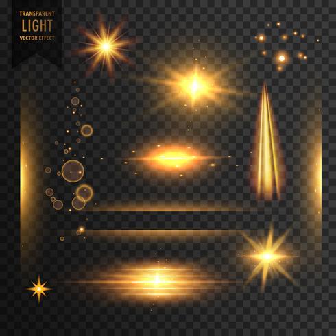 透明的燈光,閃耀和鏡頭閃光效果背後圖片素材下載
