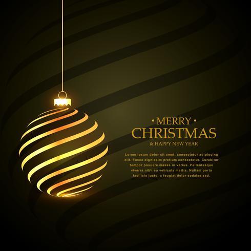 ゴールデンとスタイリッシュなメリークリスマスフェスティバルの挨拶パターンfree download