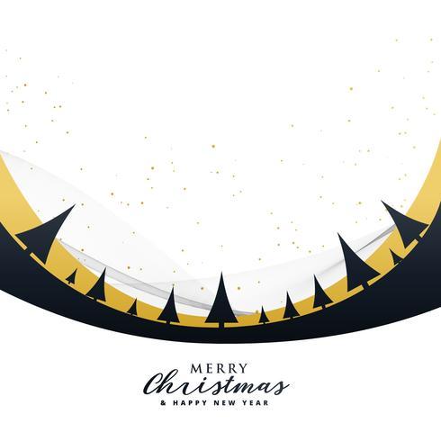 木とスタイリッシュなメリークリスマスポスターデザインパターン素材集ダウンロード